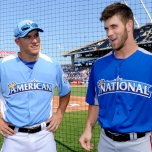 Mike Trout and Bryce Harper at 2012 All Star Game