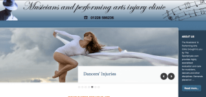 Musicians and Performing Arts Injury Clinic website