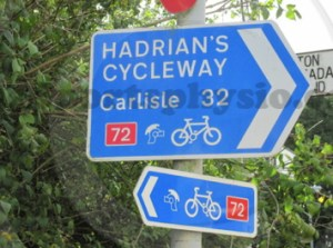 Hadrian's Cycleway Signpost