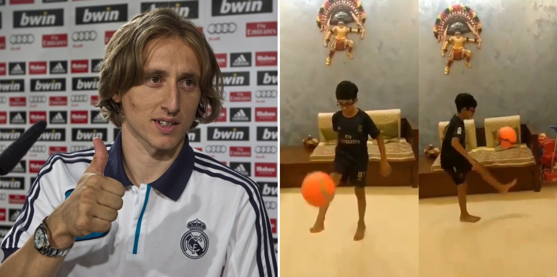 Luka Modrić hails 9 year old Indian kid for his spectacular tribute - THE SPORTS ROOM