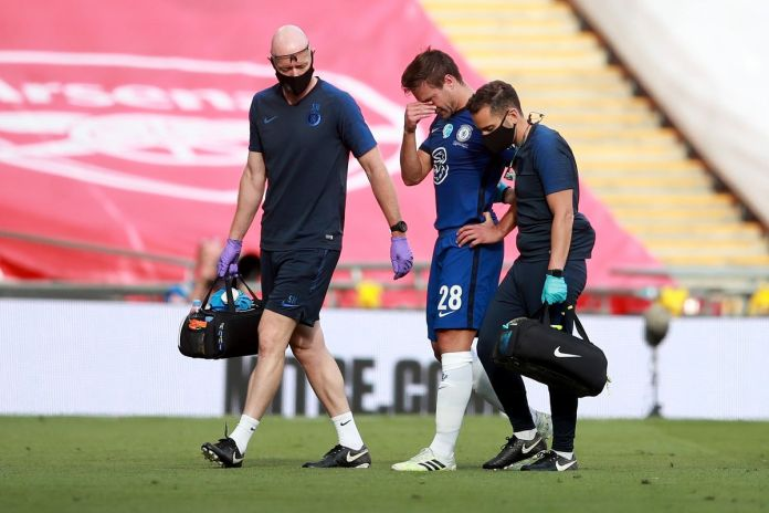 Chelsea captain Cesar Azpilicueta broke down in tears after getting injured during the FA cup final.