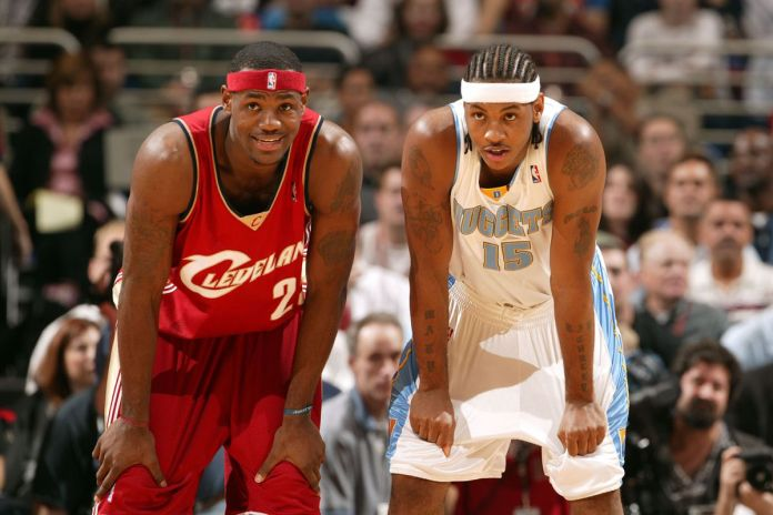 LeBron James and Carmelo Anthony meet only for the second time in the playoffs in their long NBA careers.