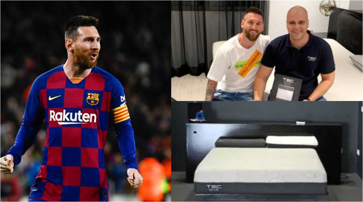 A bed worthy of Messi: The Catalan sleeps on a £900 Coronavirus killing bed. - THE SPORTS ROOM