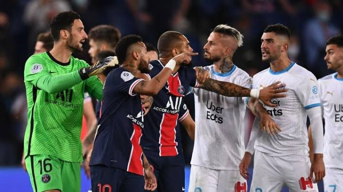 Neymar slaps Alvaro Gonzalez accusing him of racial remarks, 'learn how to lose' the Marseilles defender reverts - THE SPORTS ROOM