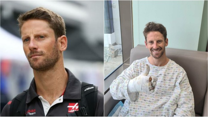 I'm sort of ok: Romain Grosjean shares touching video for fans from hospital bed - THE SPORTS ROOM