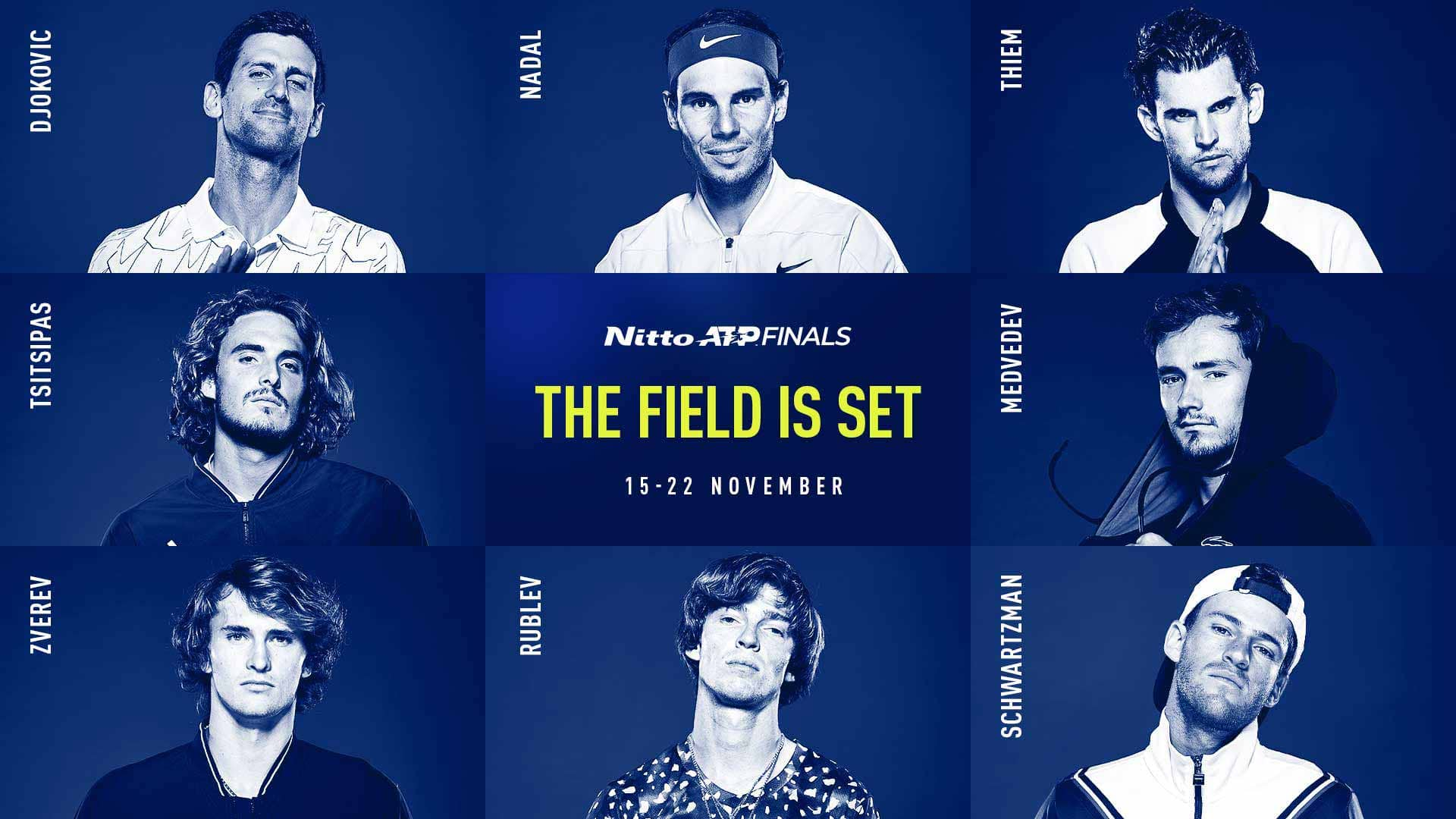 ATP Finals draws are here- Tsitsipas, the defending champion, joins Nadal in group of Death - THE SPORTS ROOM