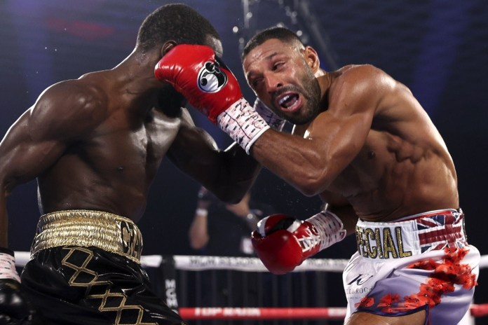 Terence Crawford defends his WBO welterweight title with a 4th round KO to Kell Brook - THE SPORTS ROOM