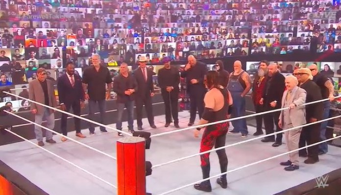 Watch: Shawn Michaels leads WWE HOFs to the ring to commemorate The Undertaker's career - THE SPORTS ROOM
