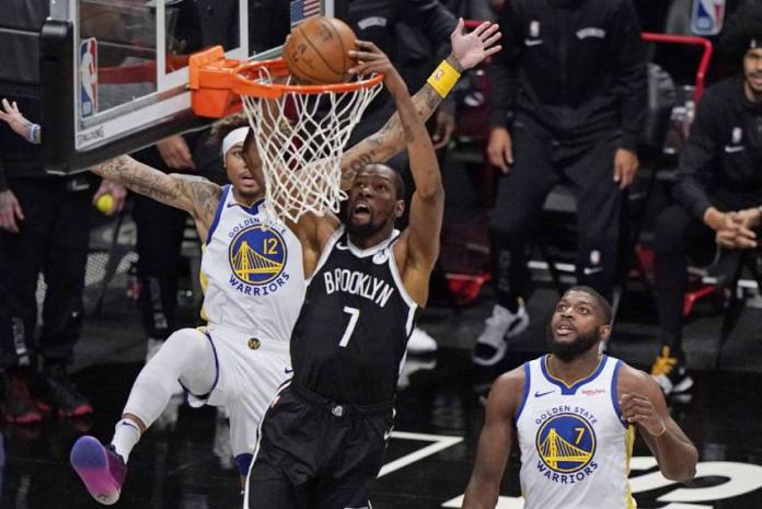 Kevin Durant returns to the court after 18 months, shines in Nets' stellar win over Warriors - THE SPORTS ROOM