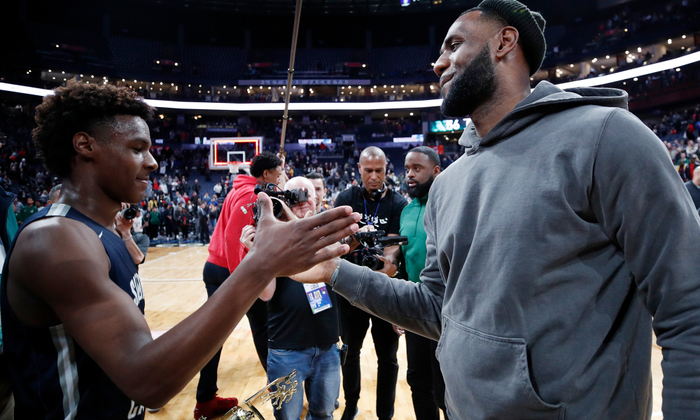 LeBron James' two-year, $85 million Lakers extension can land him in the same court together with son Bronny! - THE SPORTS ROOM