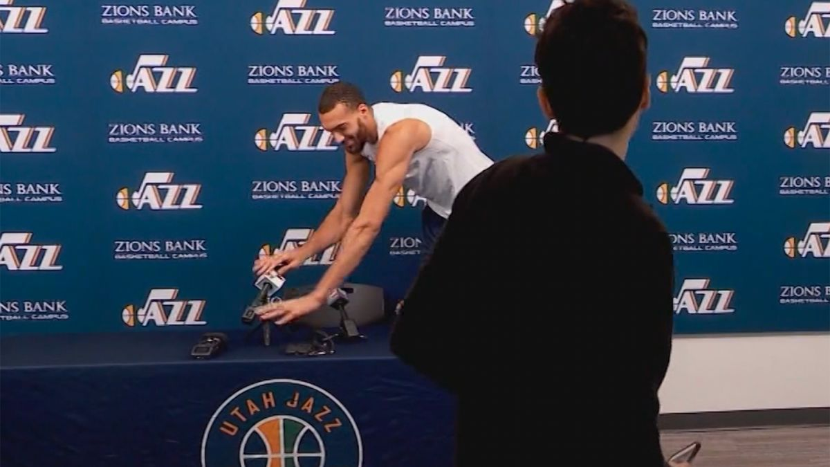 Rudy Gobert opens about the controversial mic-touching incident - THE SPORTS ROOM