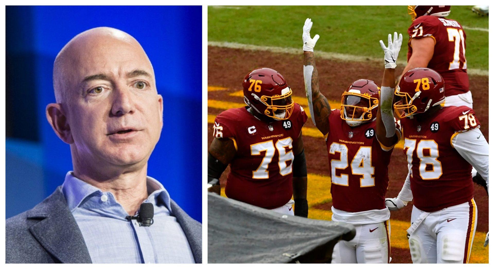 Amazon CEO Jeff Bezos reportedly eyeing Washington Football Team ownership - THE SPORTS ROOM