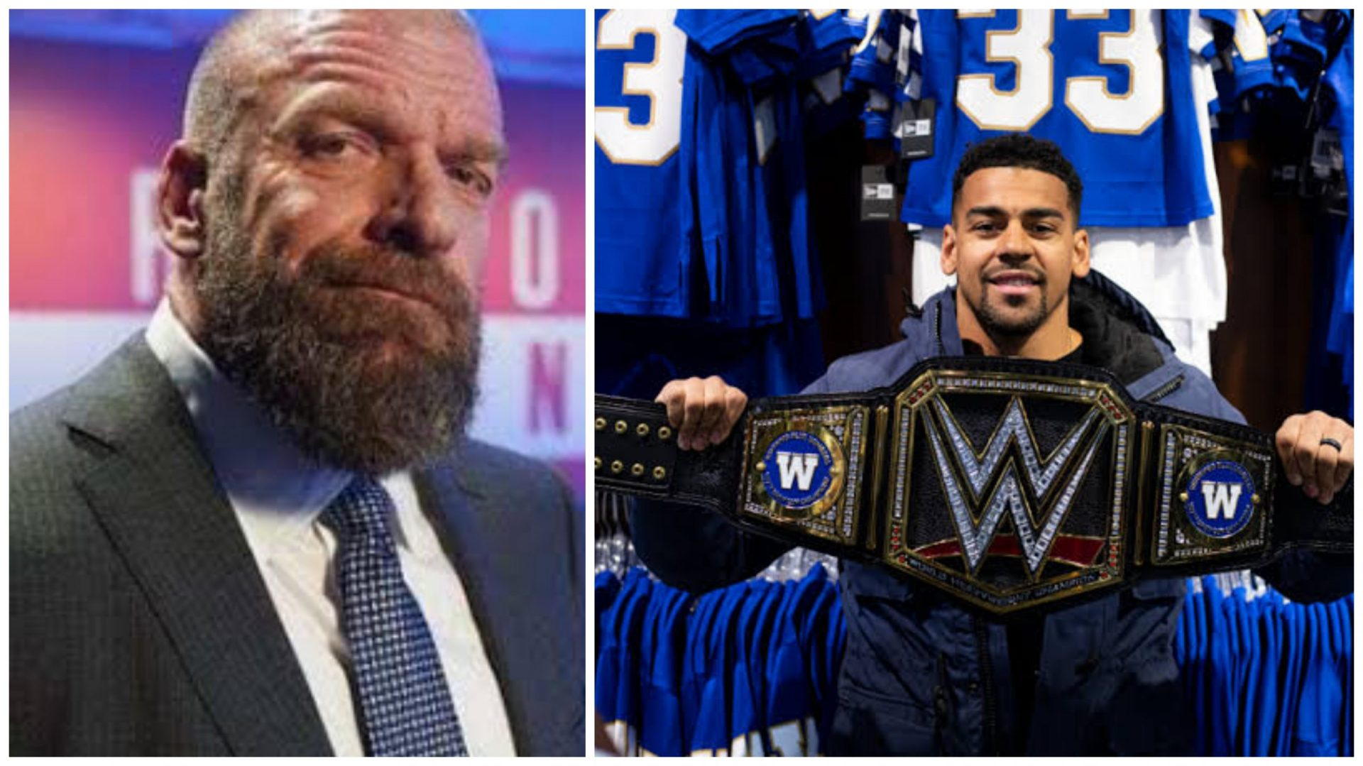 Triple H discusses WWE's tradition of sending championships to winning sports teams - THE SPORTS ROOM
