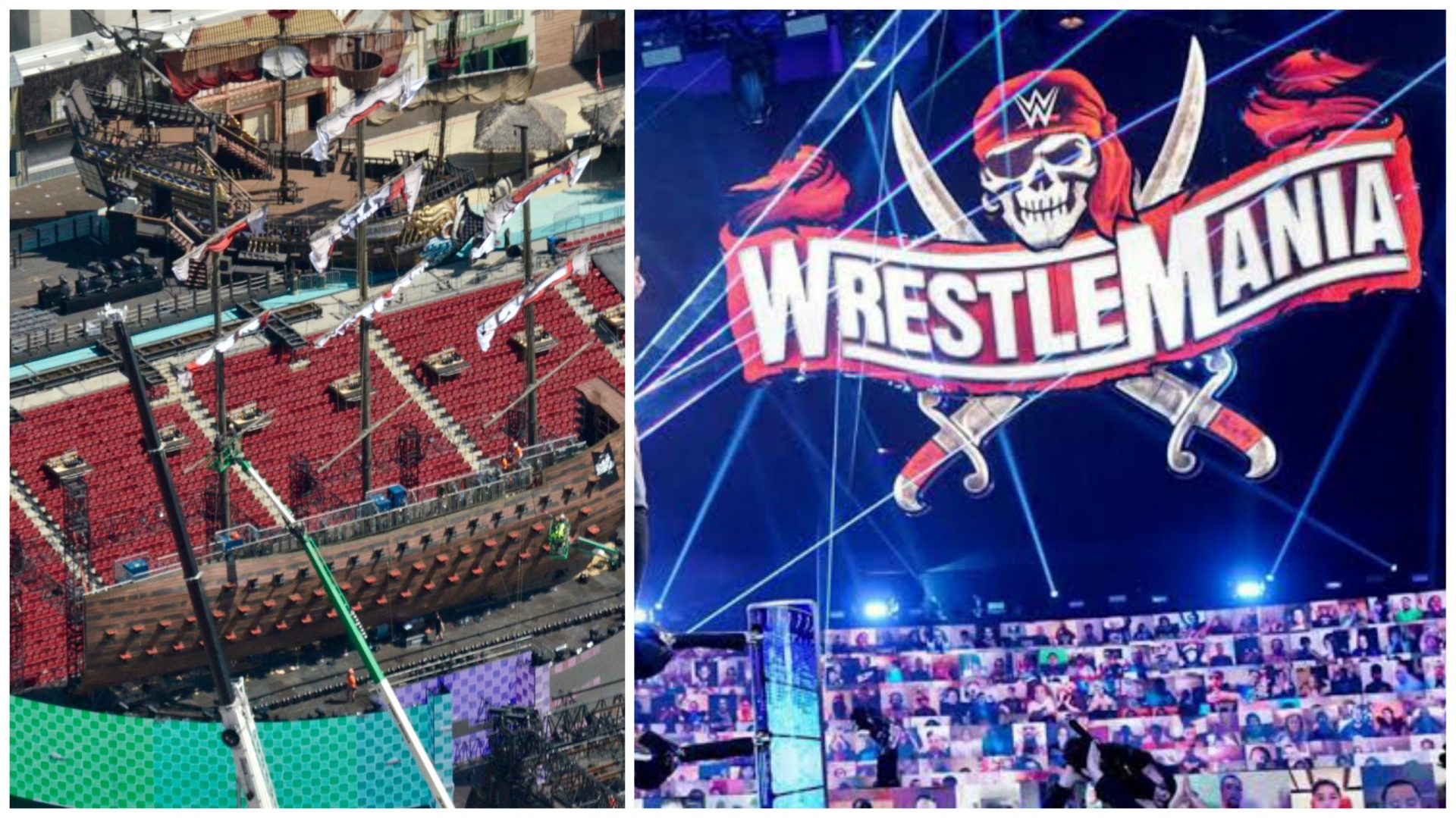 Drone footage of WWE WrestleMania 37 set revealed - THE SPORTS ROOM