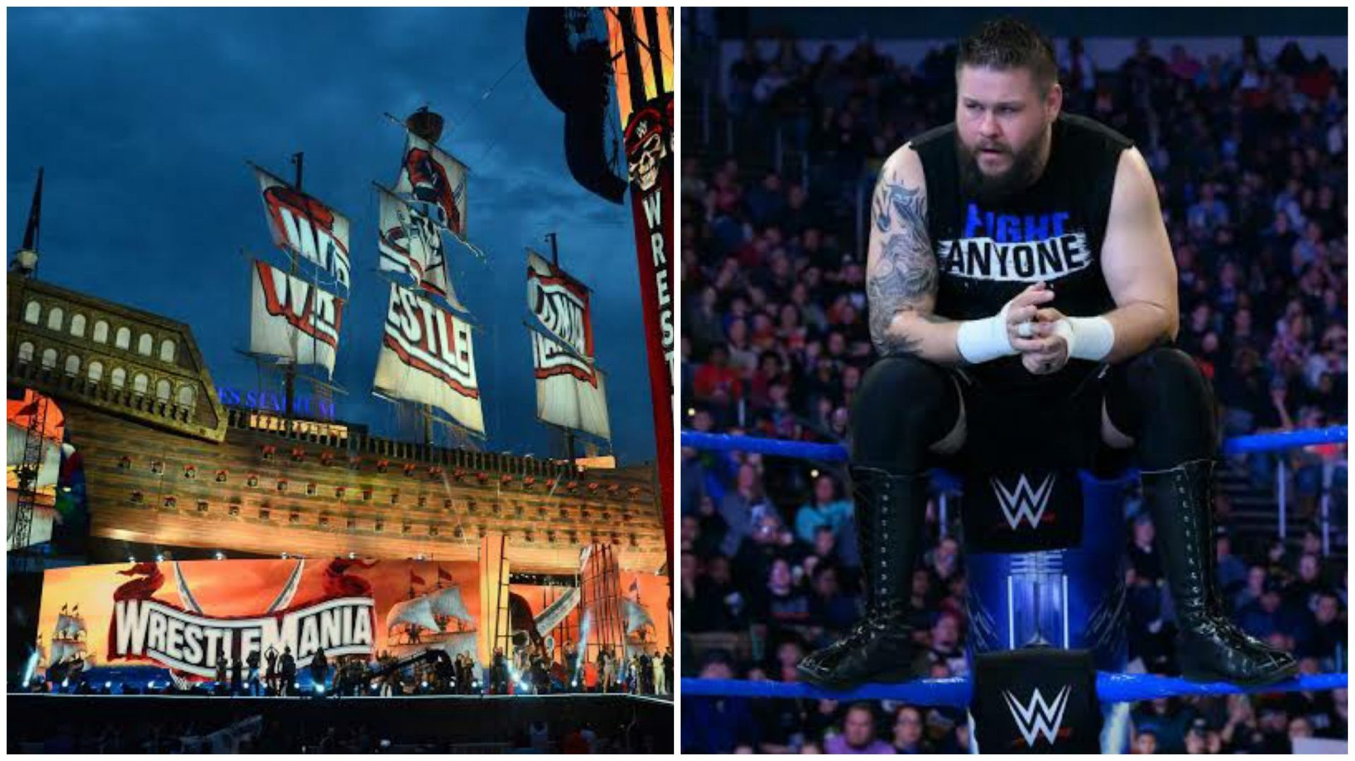 Reason behind Kevin Owens not jumping from pirate ship at WrestleMania 37 revealed - THE SPORTS ROOM