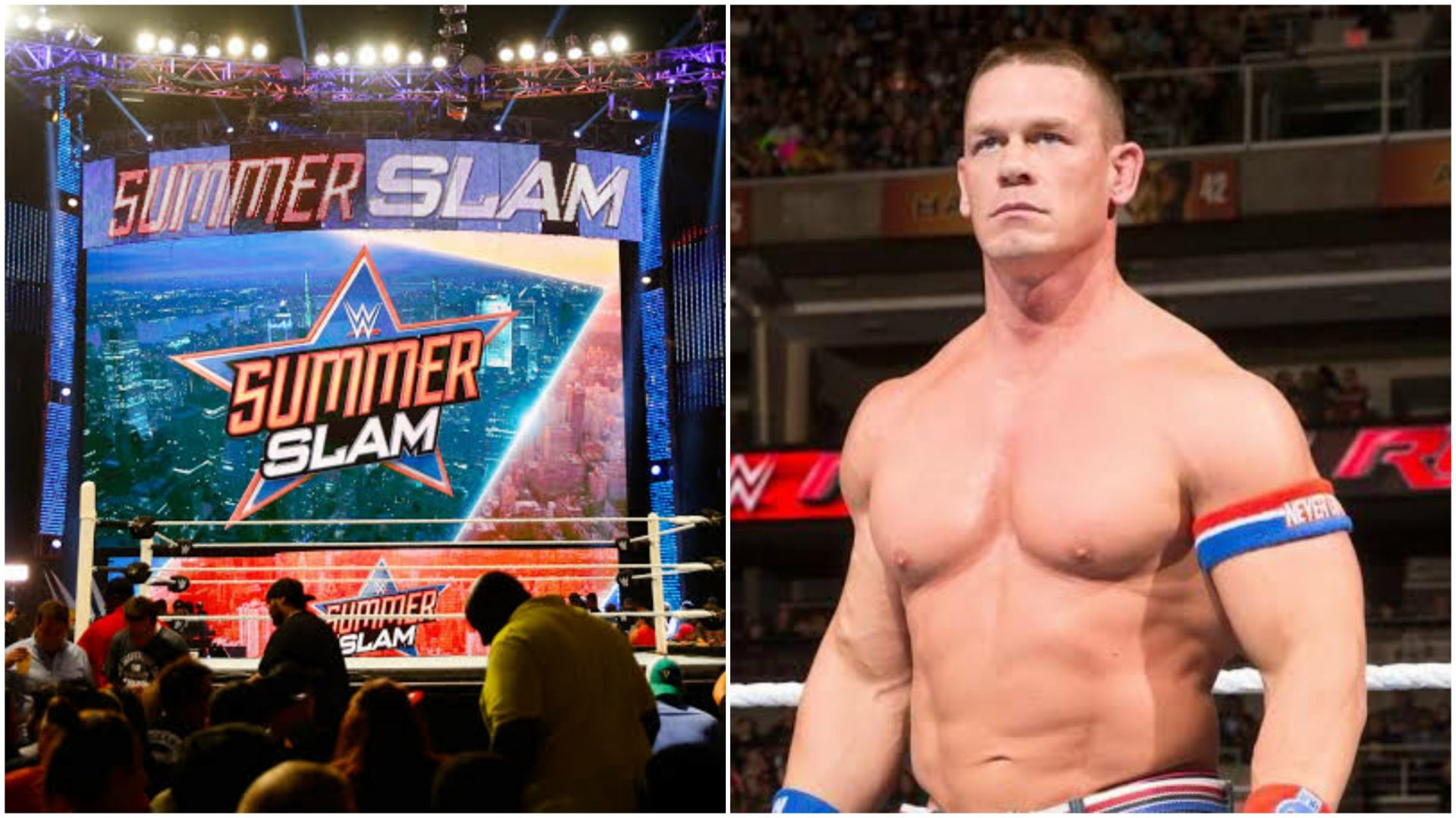 """John Cena """"reacts"""" to WWE Summerslam question - THE SPORTS ROOM"""