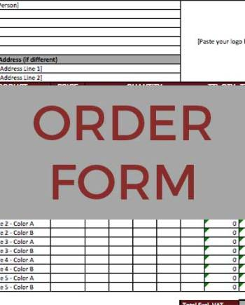Sportswear Inc. Order Form Template