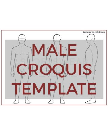 Sportswear Inc. Male Croquis Template