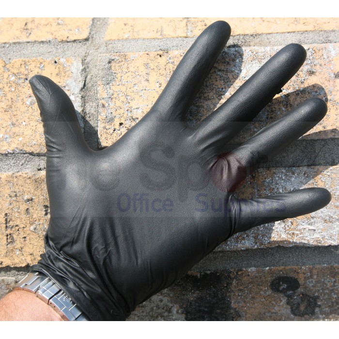 xxl desk chair covers rental nj nitrile - 6.7 mil deluxe black exam gloves