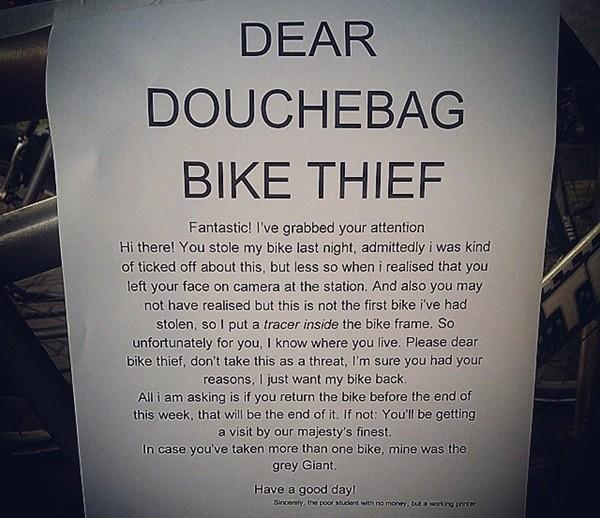 Aaron Rush Bike Thief Pic