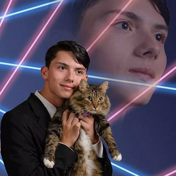 Draven Rodriguez Yearbook Photo With Cat Pics