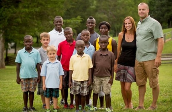 Hayley and Mike Jones Parents of two adopt eight