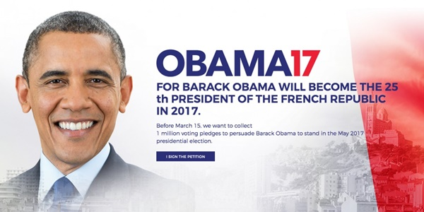 Obama France campaign 2017 election