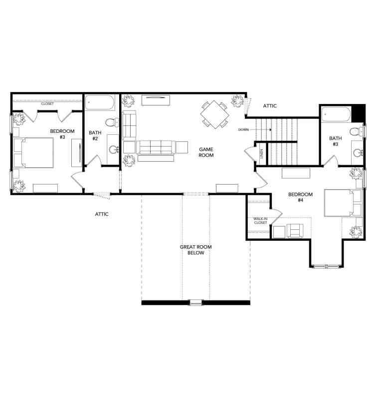 The Surrey Floorplan - 2nd Floor