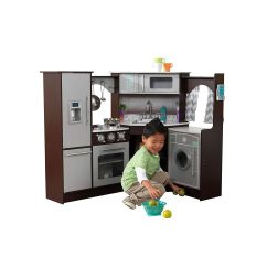 Kids Play Kitchen Accessories Wallpaper Backsplash The 8 Best Sets To Buy For In 2019 Overall Kidkraft Ultimate Corner With Lights Sounds