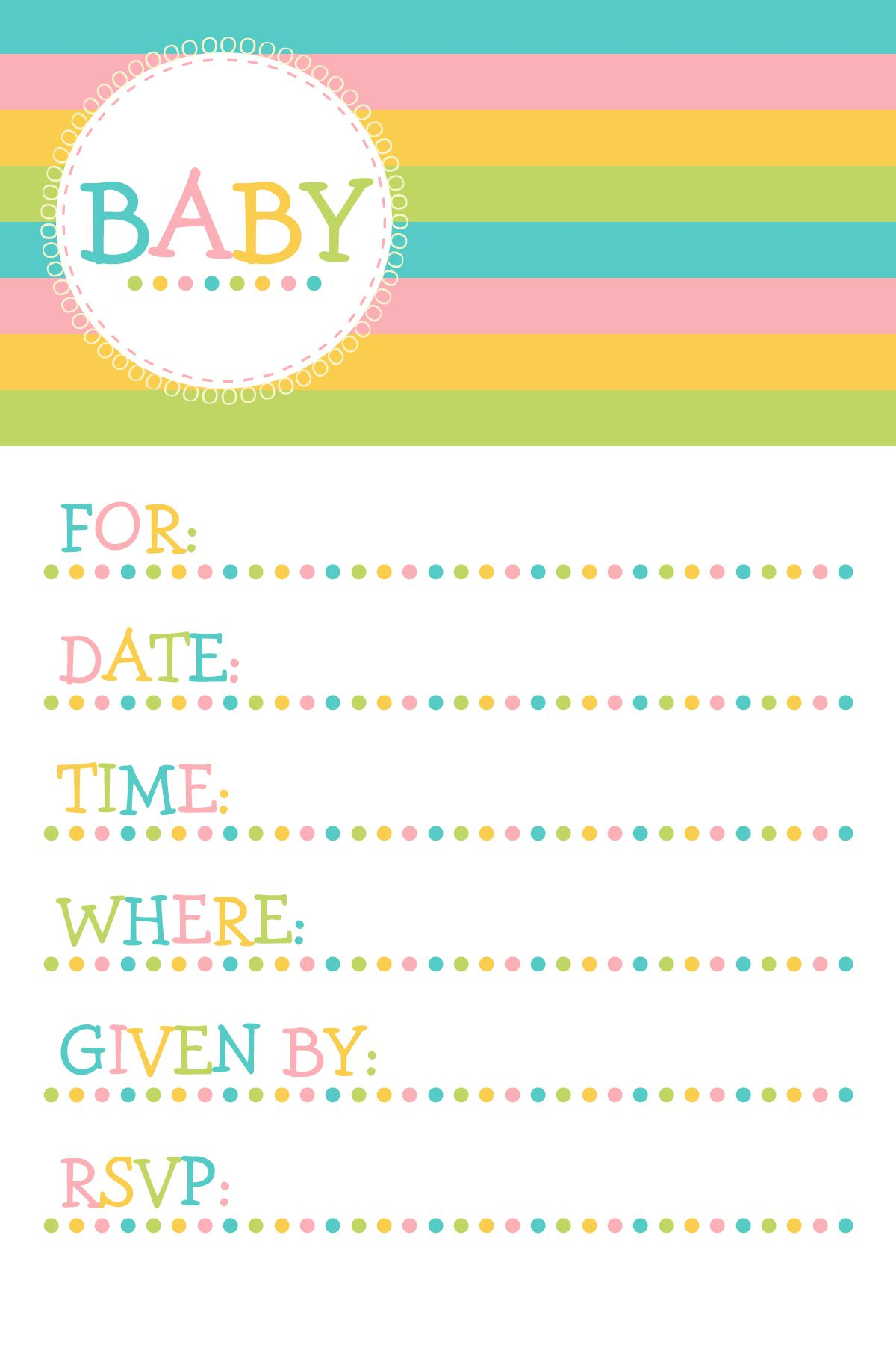 Doc Descargar Invitation Baby Shower Template