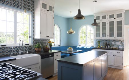 paint colors kitchen door 26 ideas you can easily copy blue and white modern