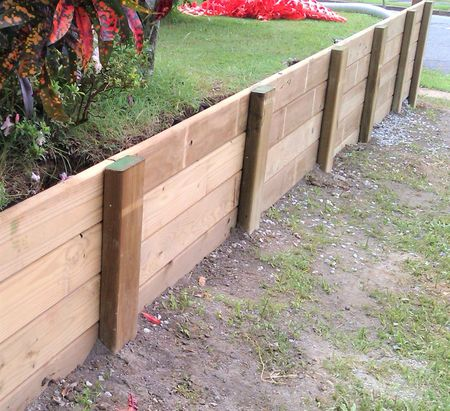 Pressure Treated Wood Retaining Wall Design