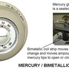 240 Volt Baseboard Heater Wiring Diagram Automotive Schematics Understanding Common Furnace Thermostats Mercury Contact Bimetallic Thermostat