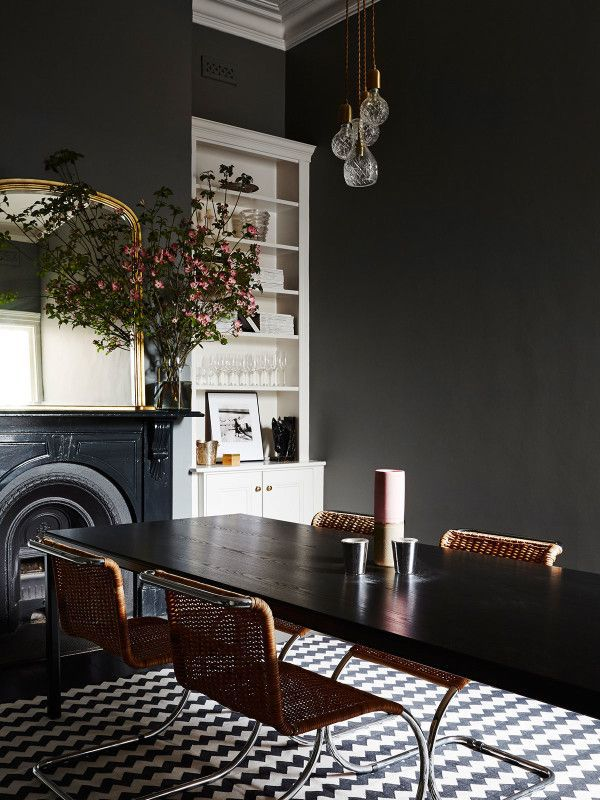 8 Chic Black Dining Rooms