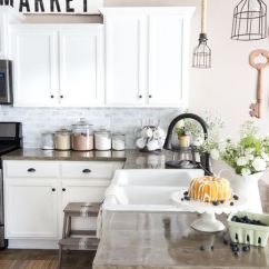 Brick Backsplash In Kitchen Undermount Porcelain Sink Diy Ideas Whitewashed Faux Backslpash