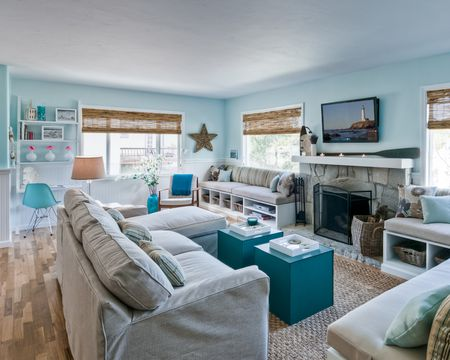 beach style decorating living room boston 20 beautiful house ideas blue
