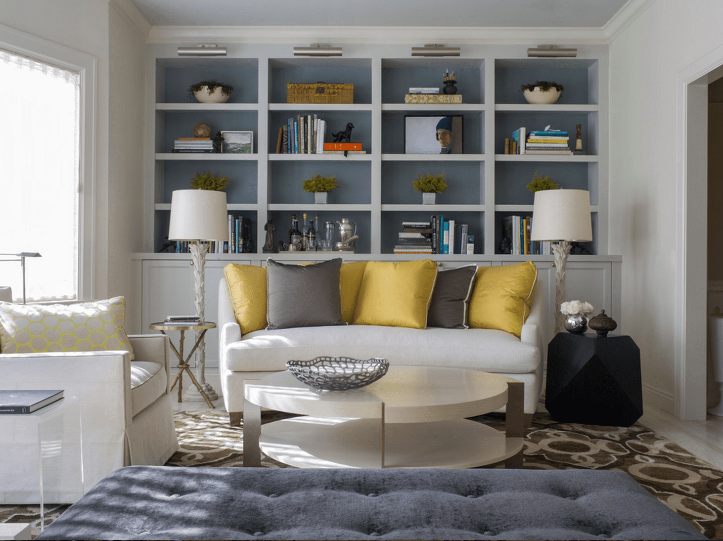 shelves living room color palette gray beautiful rooms with built in shelving