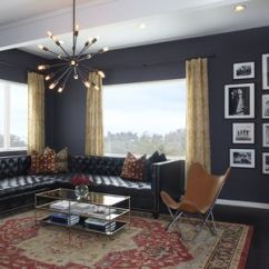 Living Room Designs With Leather Couches Artwork For Grey 16 Ways To Decorate Furniture Blue Black Walls Lindsay Pincus Design