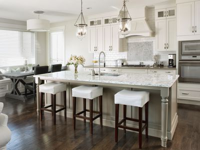 kitchen cabinets white leather bar stools are boring or contemporary is it worth your while to purchase high end