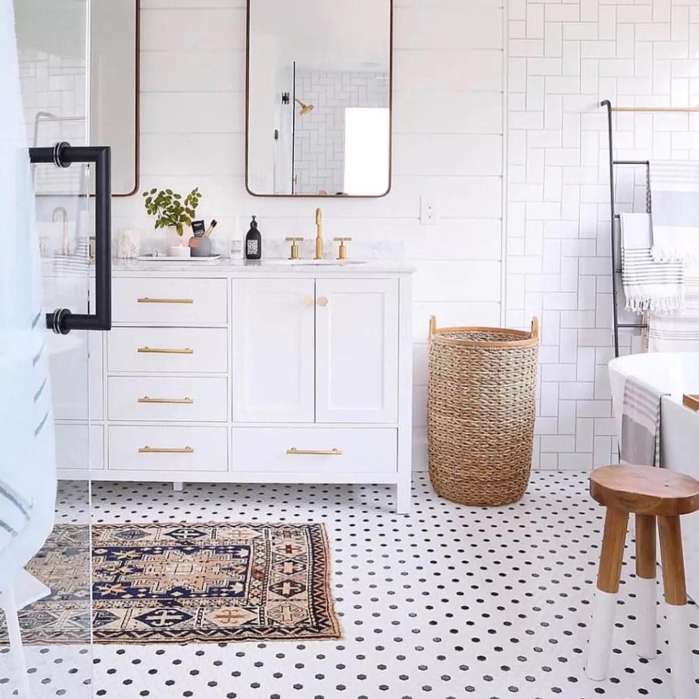 a clean white bathroom