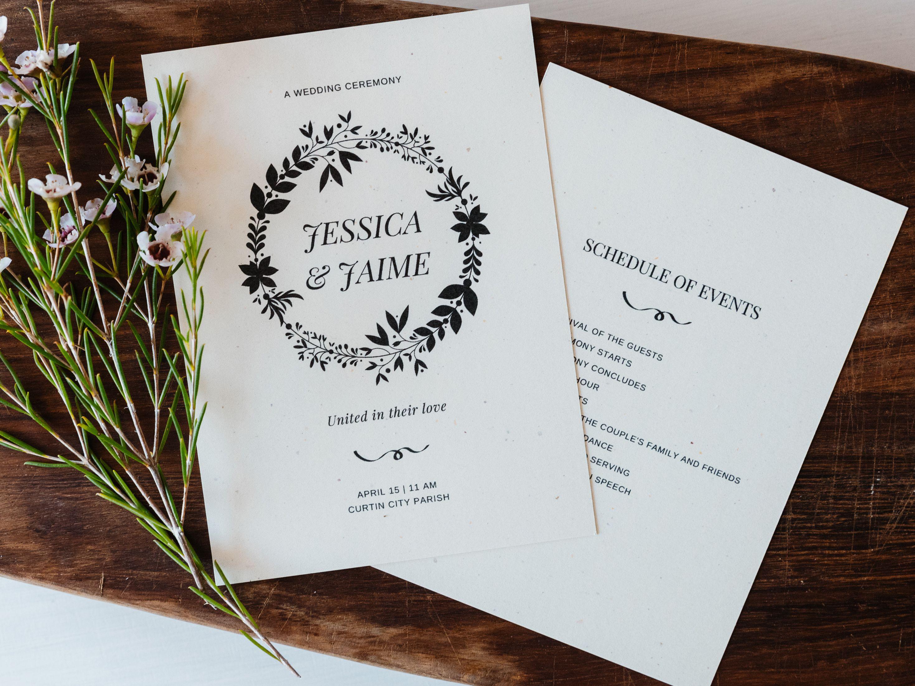free wedding program templates you can