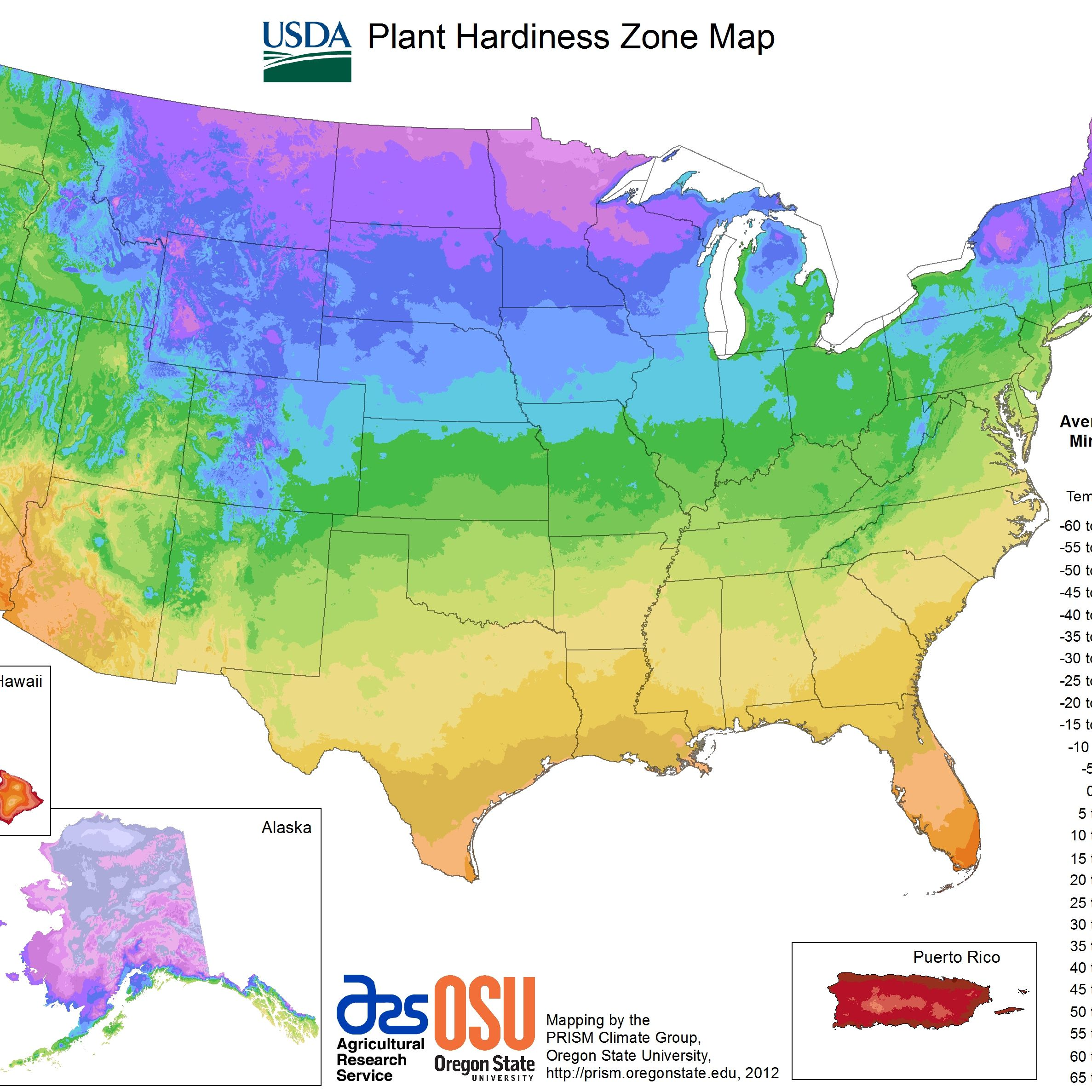 The map is based on the average. State Maps Of Usda Plant Hardiness Zones