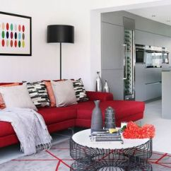 Warm Color Schemes For Living Rooms Silver Wall Mirror Room 18 Your Decorating Inspiration Red Black And Gray Contemporary