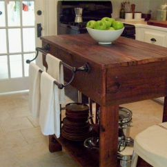 Kitchen Island And Table Tops Cabinets 15 Free Diy Plans A Wooden With Large Shelf On The Bottom