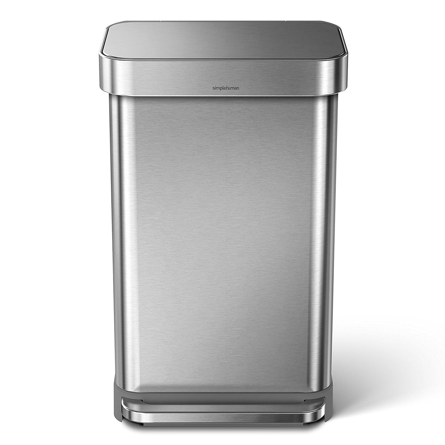 simplehuman kitchen trash can tables with bench 8 best cans of 2019 overall 45 liter 12 gallon stainless steel rectangular step liner pocket