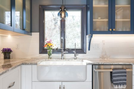 white kitchen countertops black sink 20 granite for every type of decor style gray countertop in blue and