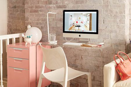 living room desk table accessories 21 ideas perfect for small spaces lucite in danish close up