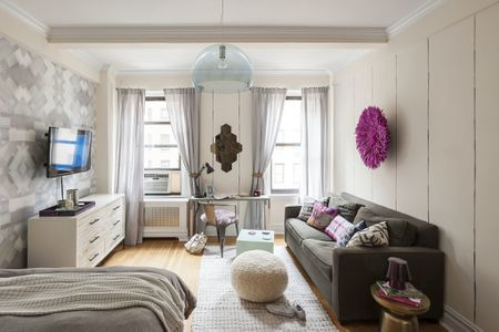 murphy bed in small living room soft area rugs for 25 ways to create a bedroom studio apartment larger