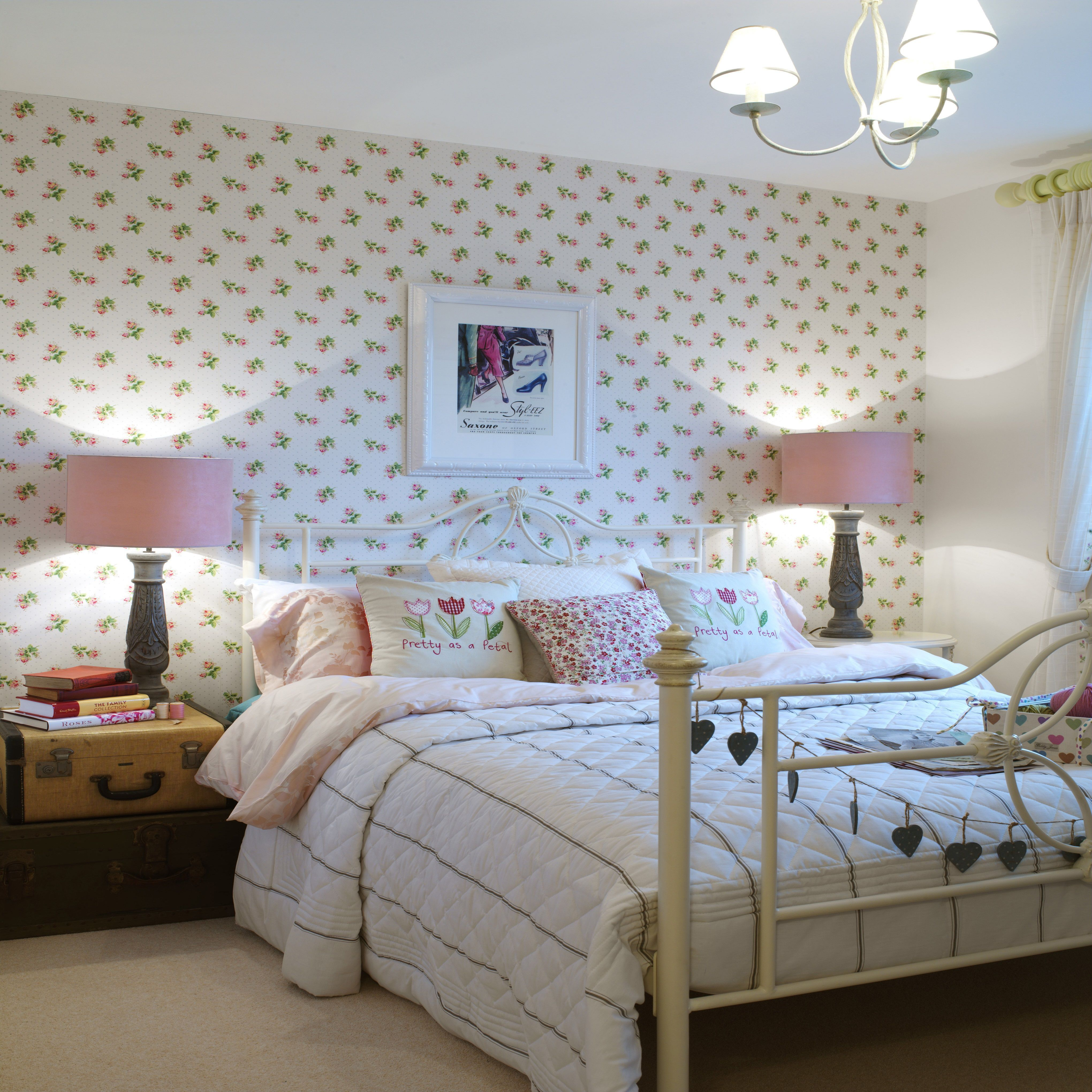 Also, the chandelier lighting seems antique in that manner. Photos And Tips For Decorating A Shabby Chic Bedroom