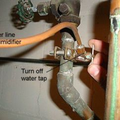 Aprilaire 600 Automatic Wiring Diagram Bell Satellite How To Replace A Humidifier Solenoid Turn Off The Water Supply